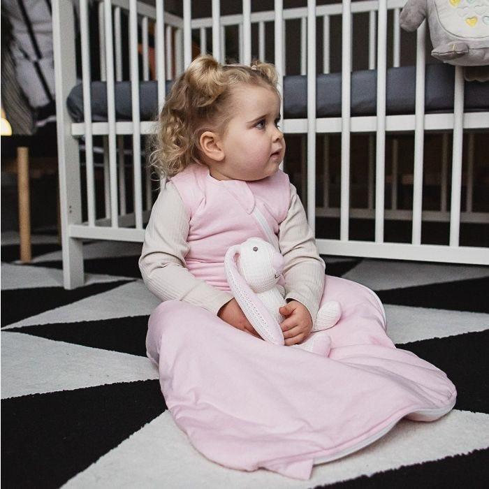 Child wearing The Original Grobag Pink Marl Sleepbag