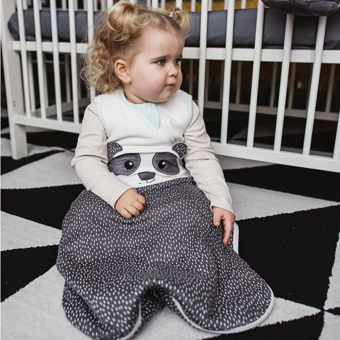 Child wearing The Original Grobag Pip the Panda Sleepbag
