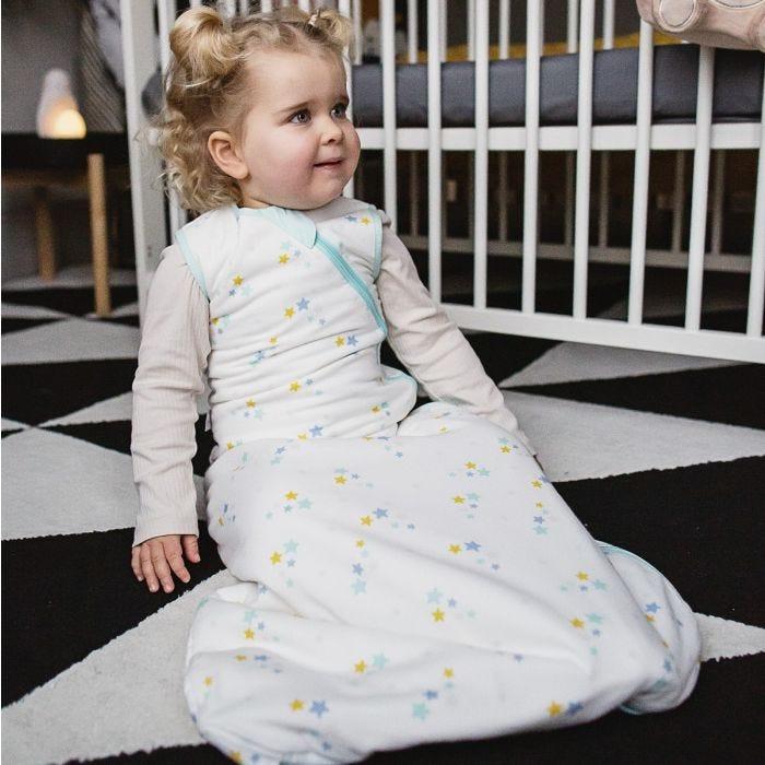 Child wearing The Original Grobag Little Stars Sleepbag
