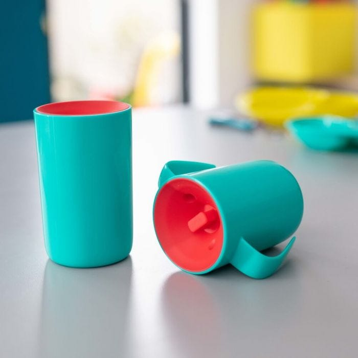 Little boy drinking form the Insulated 360 Cup