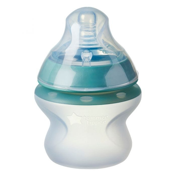 Closer to Nature Silicone Baby Bottle, 5oz with lid
