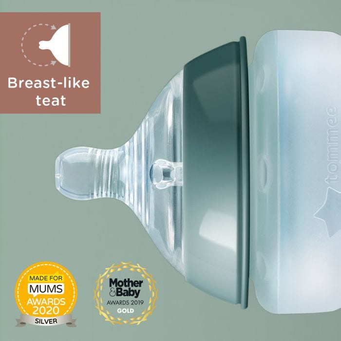 Closer to Nature Silicone bottles  breast like teat