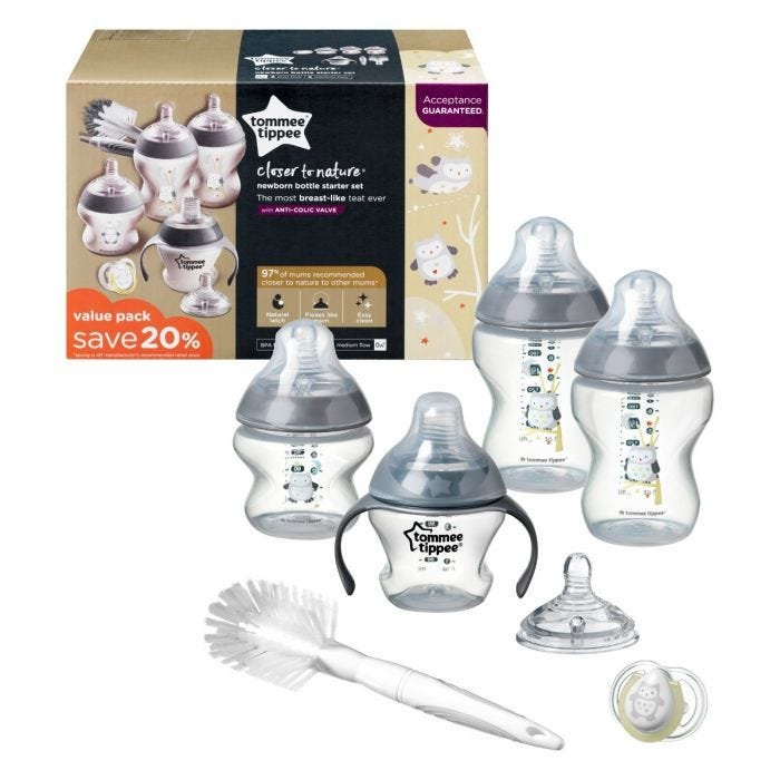 Newborn Bottle Feeding Pack  with packaging