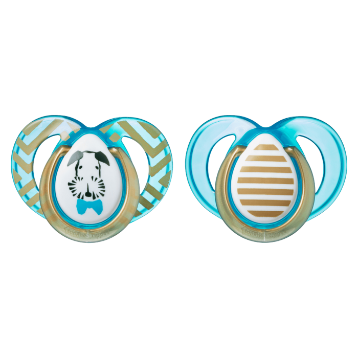 blue 2 pack moda soothers