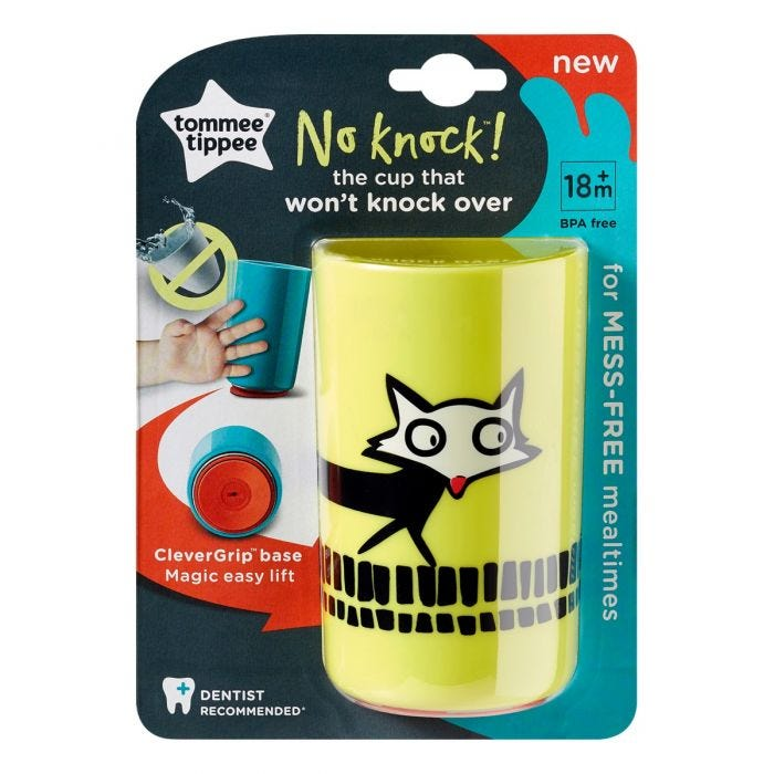 No Knock Cup with packaging