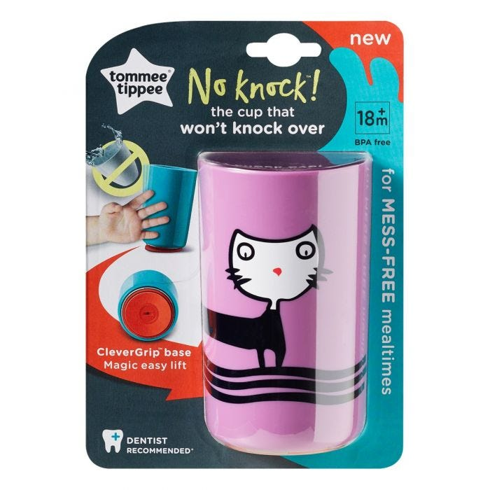 No Knock Cup Purple with packaging