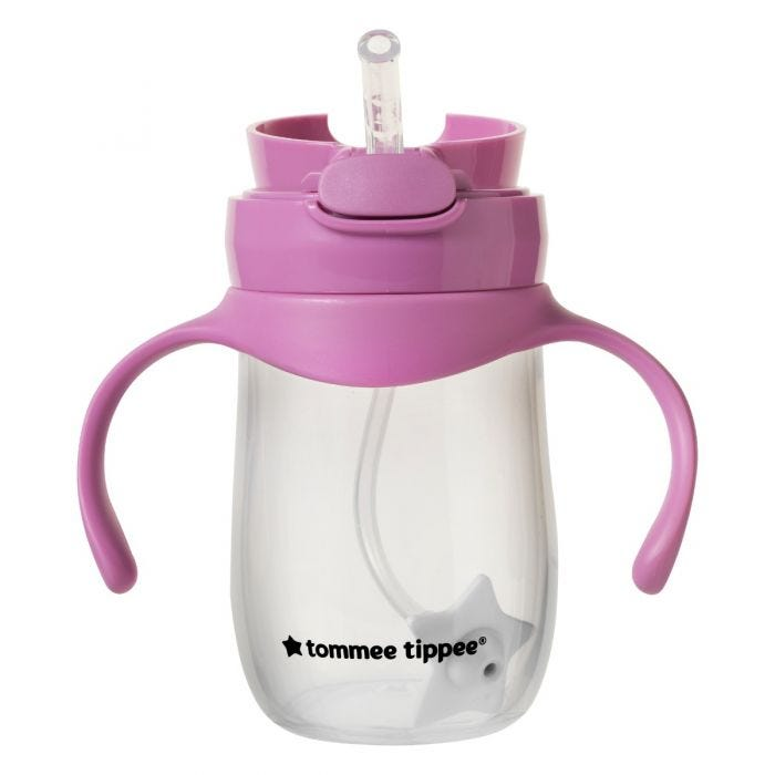 Weighted Straw Cup - pink 240 ml