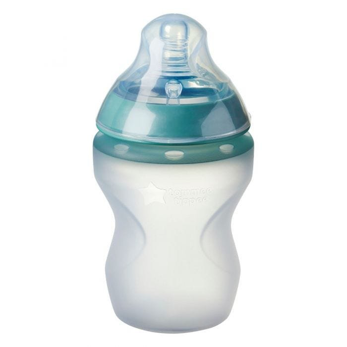 Closer to Nature Silicone Baby Bottle with lid