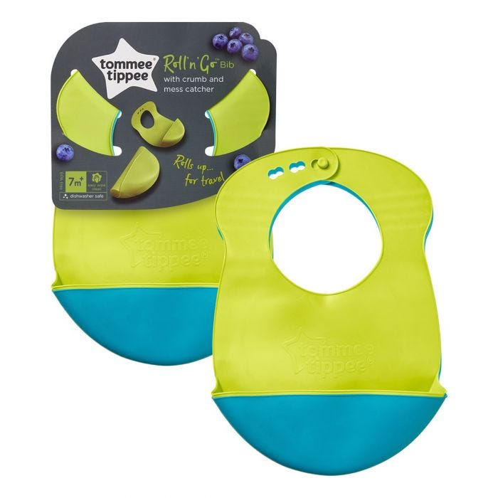 Roll and Go Bibs  with packaging