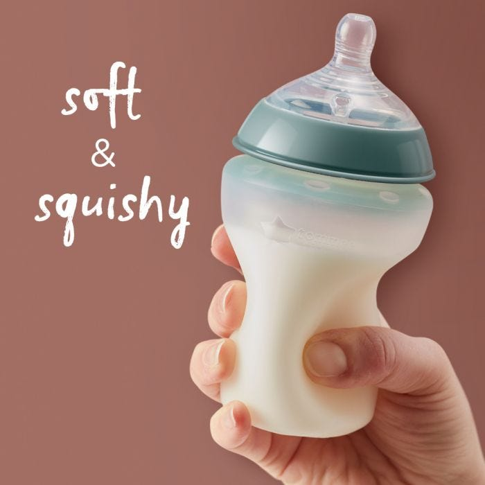 Closer to Nature Silicone bottles  soft and squishy