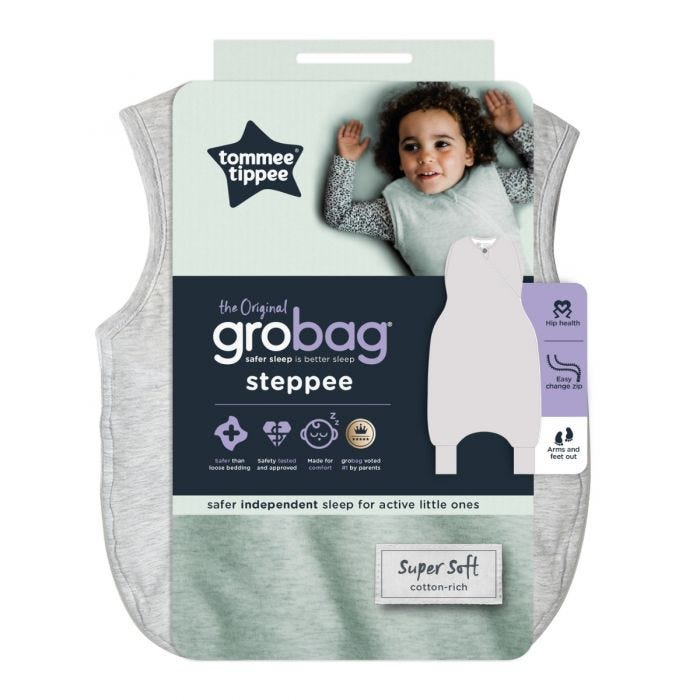 The original grobag grey marl steppee in packaging