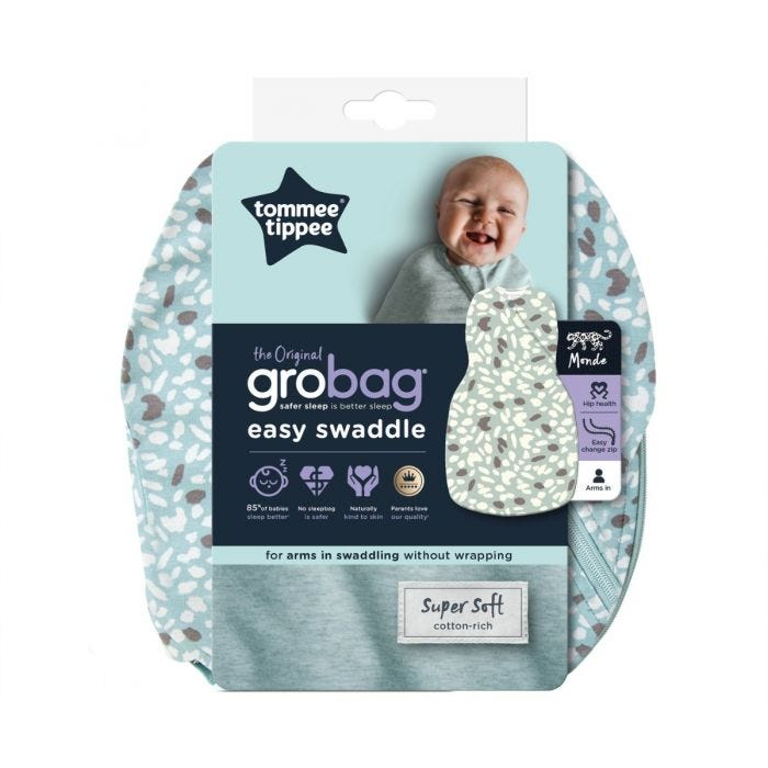 The Original Grobag Earth Green Easy Swaddle packaging