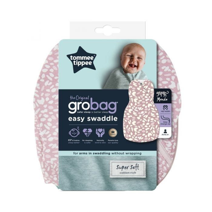 The Original Grobag Earth Grape Easy Swaddle packaging