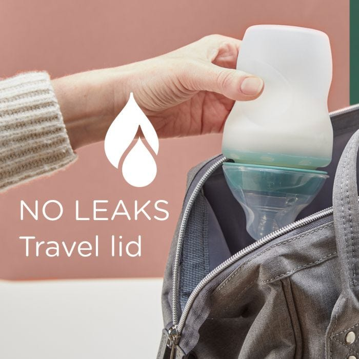 Closer to Nature Silicone bottles  no leaks travel lid