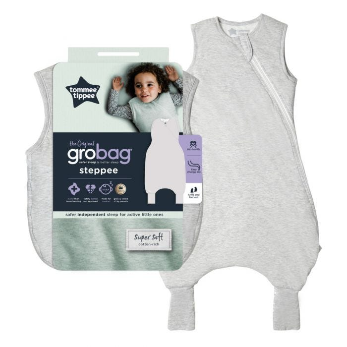 The original grobag grey marl steppee with packaging