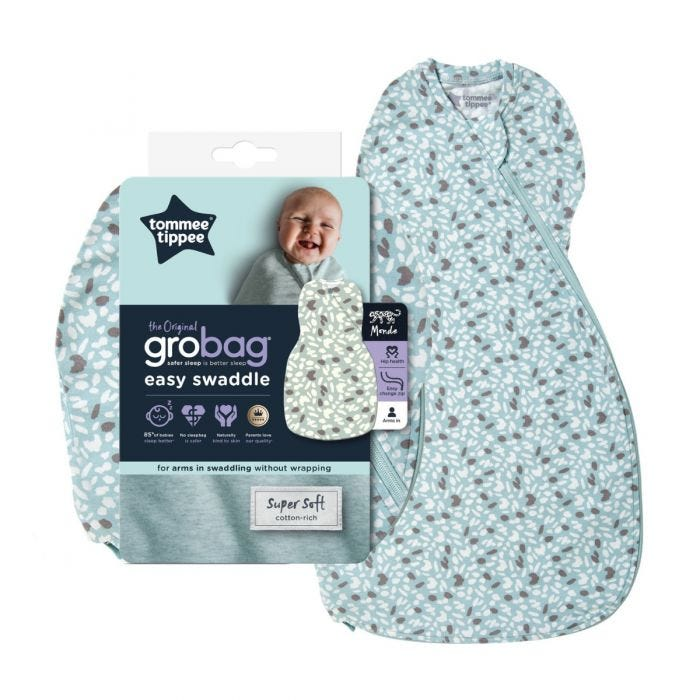 The Original Grobag Earth Green Easy Swaddle with packaging