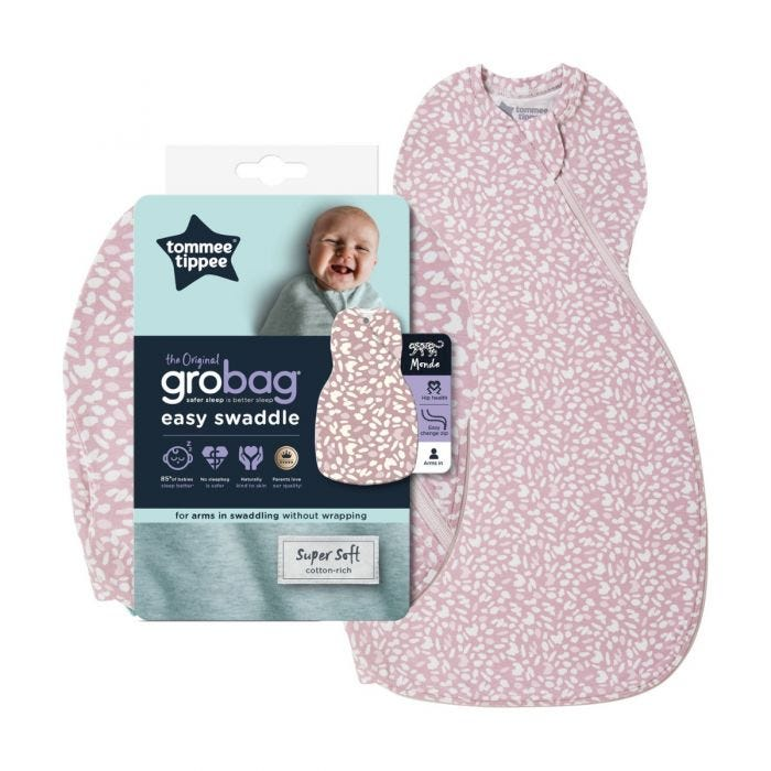 The Original Grobag Earth Grape Easy Swaddle with packaging