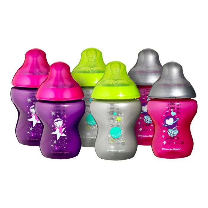 tommee-tippee-closer-to-nature-boldly-goes-baby-bottles-purple-silver-pink-yellow