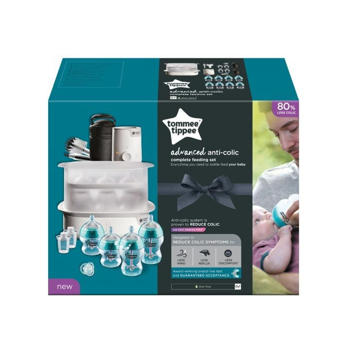 Advanced Anti-colic complete feeding kit packaging