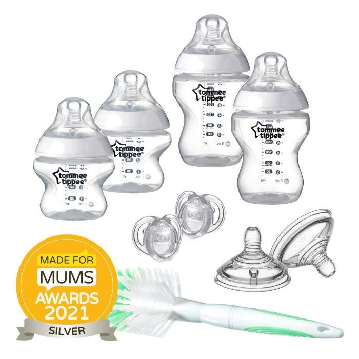 Closer-to-Nature-Newborn-Bottle-Starter-Set-clear with award roundal