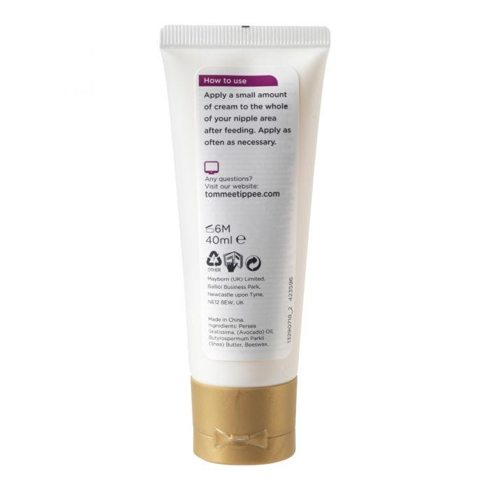 Made for Me Nipple Cream 40ml - showing how to use instructions
