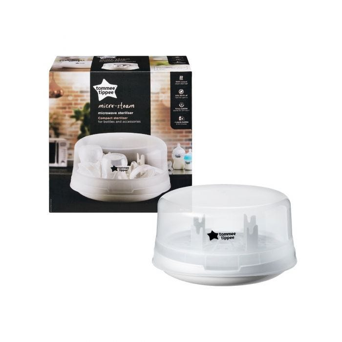 Micro-Steam Microwave Steriliser packaging and product