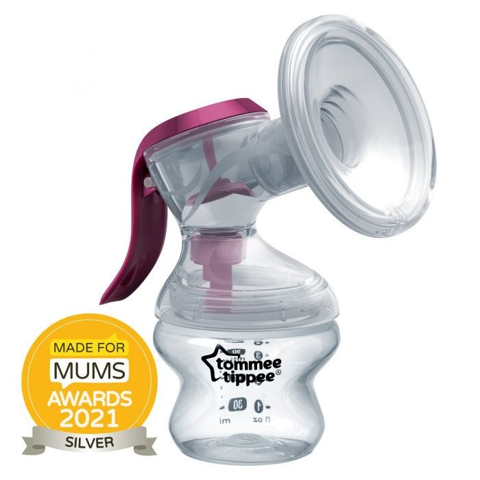 Made for me manual breast pump with award roundel