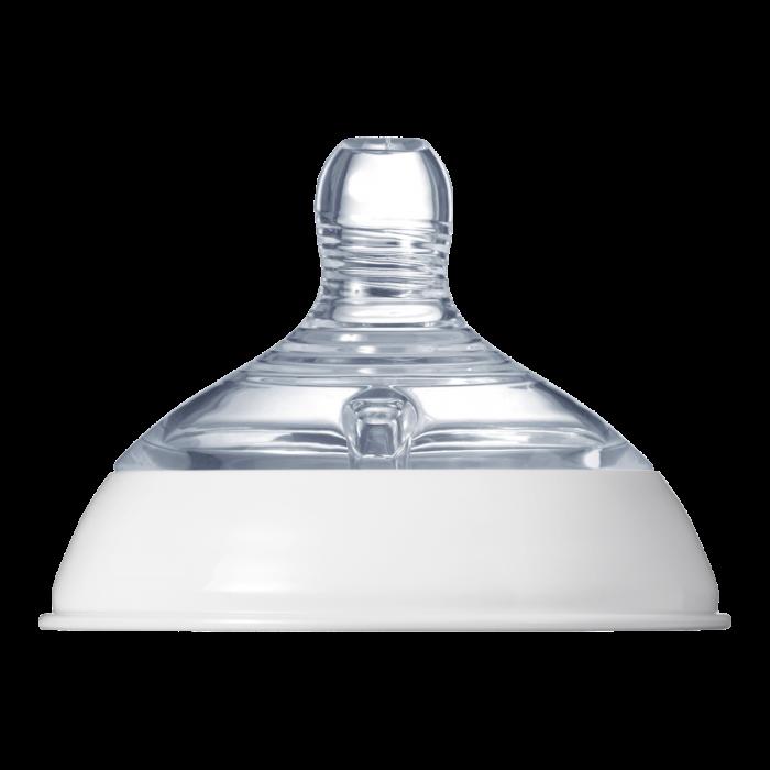 Baby bottle nipple clear