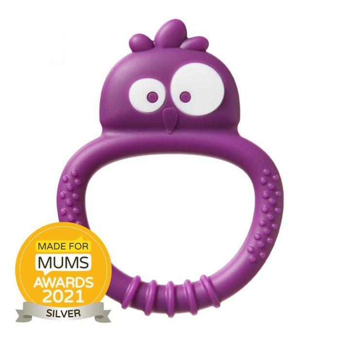 Tommee Tippee Sensory Teether Mini purple with award roundel