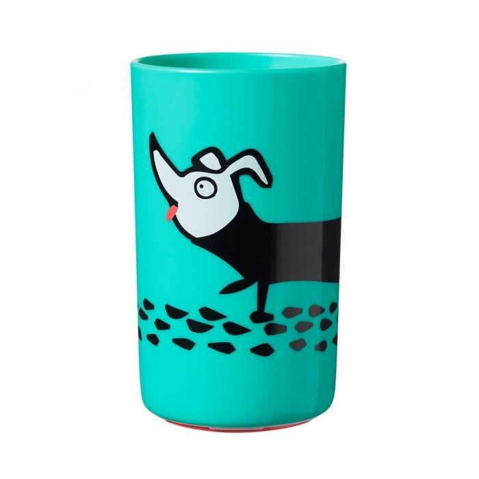 large-green-no-knock-cup-with-dog-design