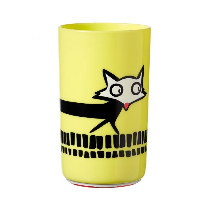 large-yellow-no-knock-cup-with-fox-design