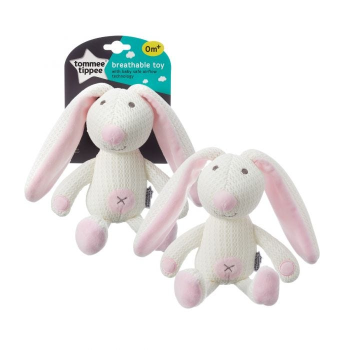 Betty the Bunny Breathable Toy with packaging