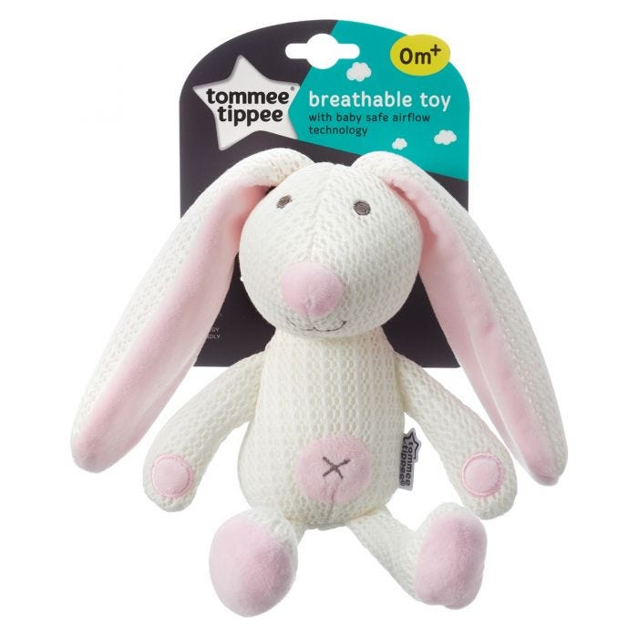 Betty the Bunny Breathable Toy packaging