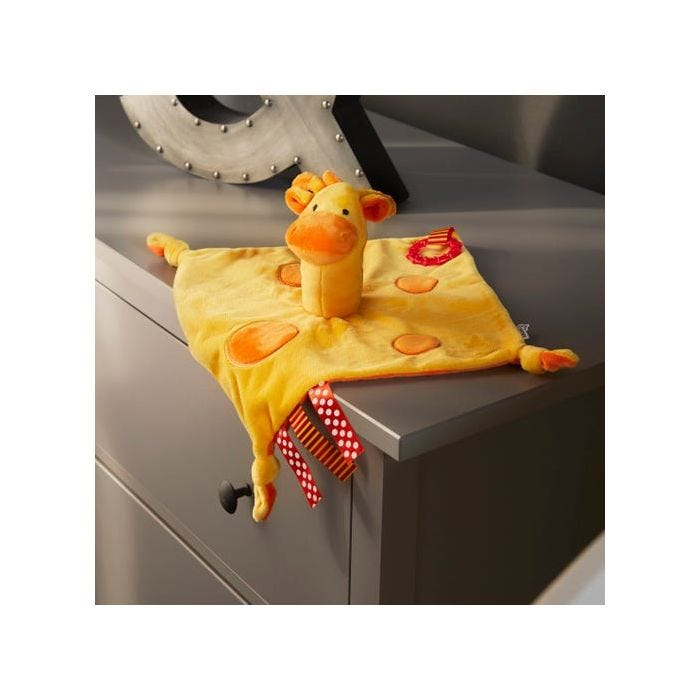 gerry the giraffe soft comforter on side unit