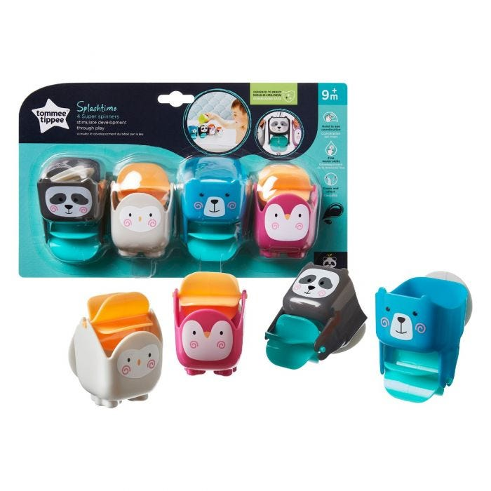 Splashtime Super Spinners with packaging