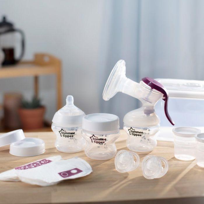 Tommee Tippee Breastfeeding Starter Kit on table in Kitchen