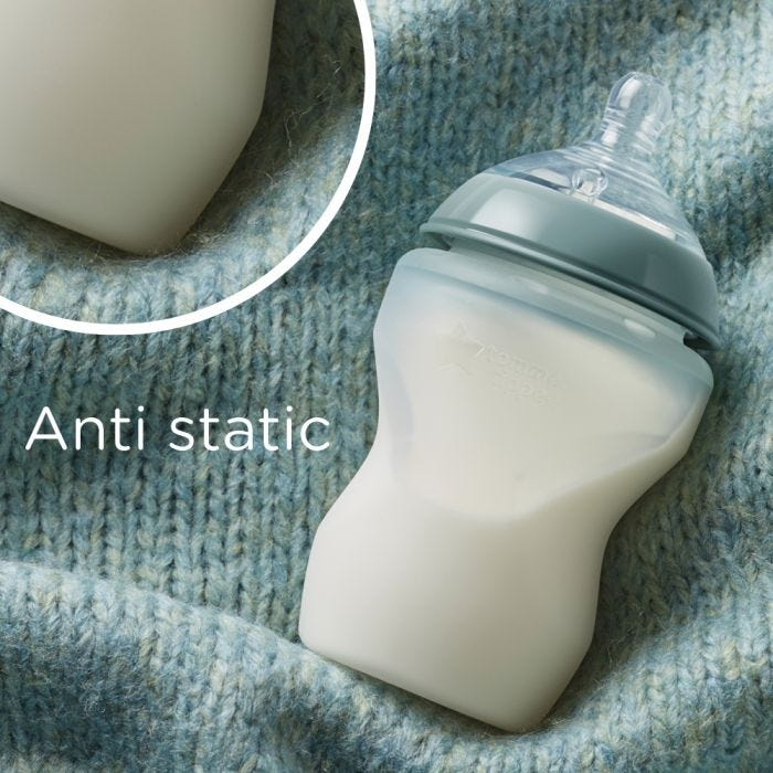 Closer to Nature Silicone bottles  anti static