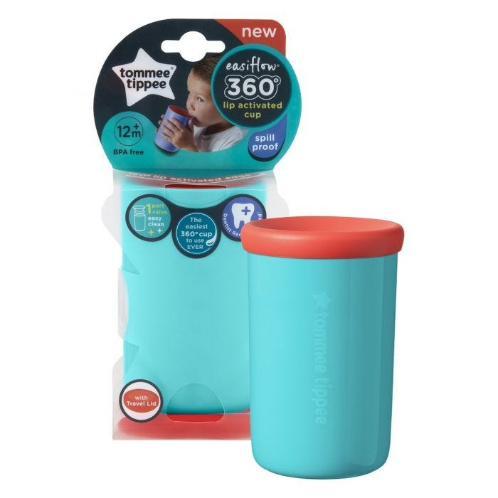 Easiflow 360° Cup teal packaging