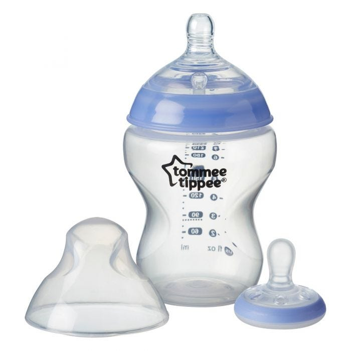 Closer to Nature Glow Bottle & Breast like Pacifier with lid off