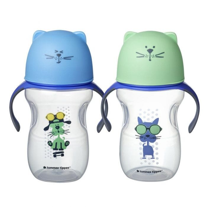 Soft Spout Trainer Cups - blue green