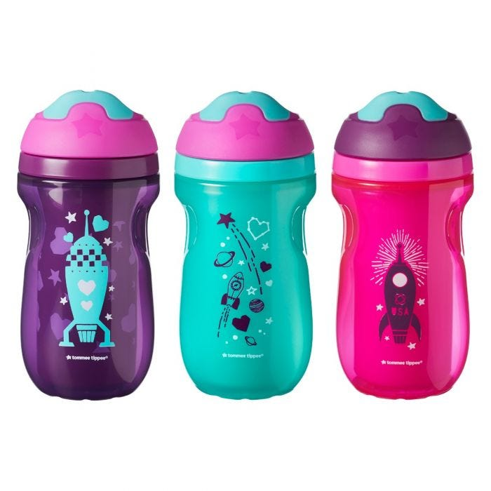Insulated Sippee Cup - 3 pack girl