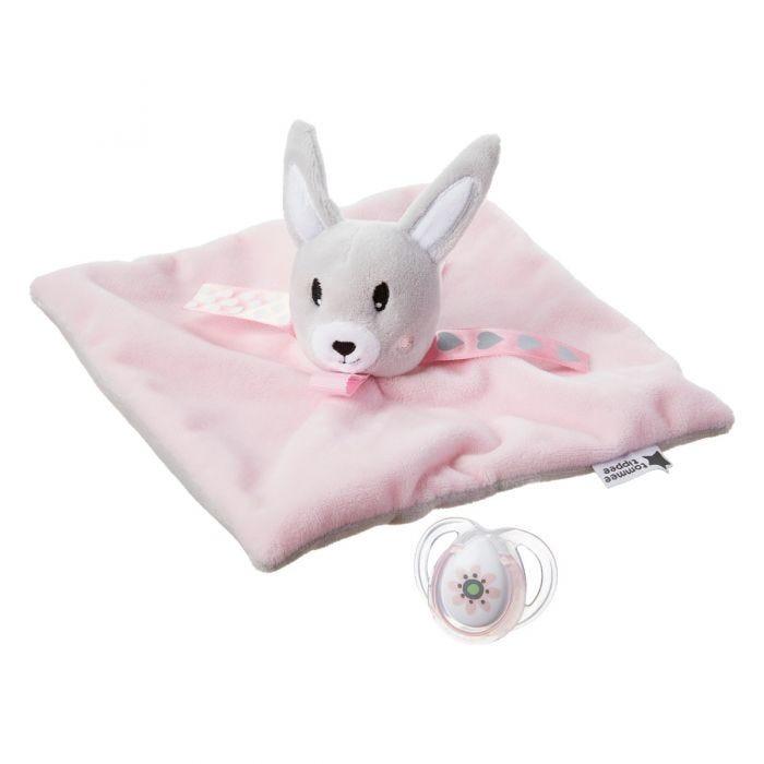 rabbit paci snuggie laid out