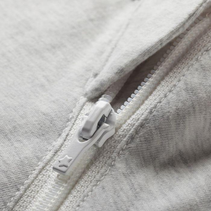 The original grobag grey marl steppee - zip close up