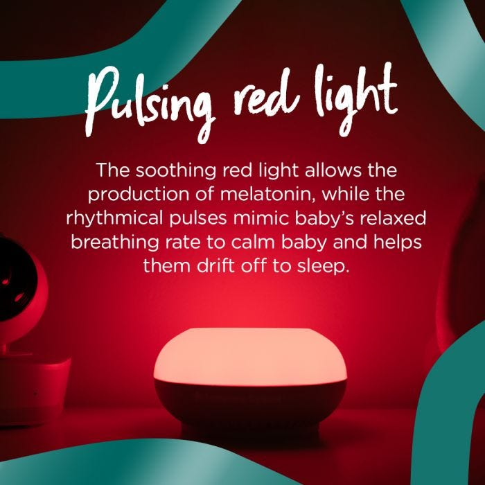 Dreammaker™ Light and Sound Baby Sleep Aid - infographic
