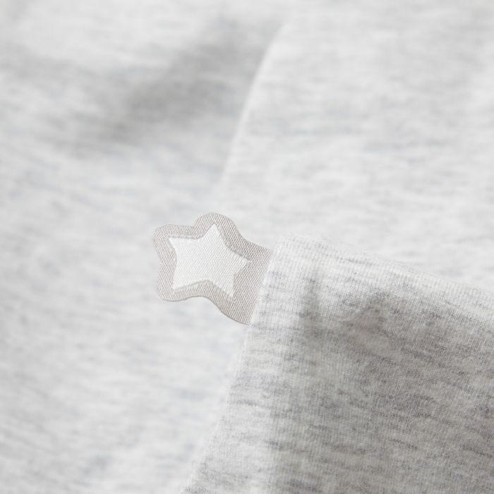 The original grobag grey marl steppee - fabric close up