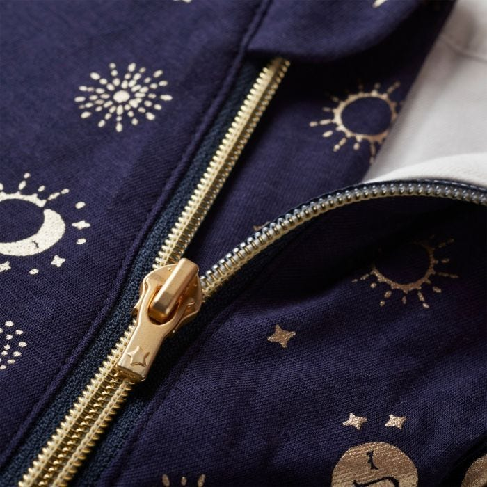 The Original Grobag Moon Child Snuggle zip close up