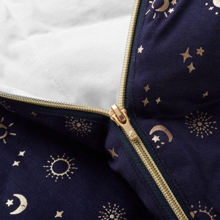 The Original Grobag Moon Child Sleepbag zip close up