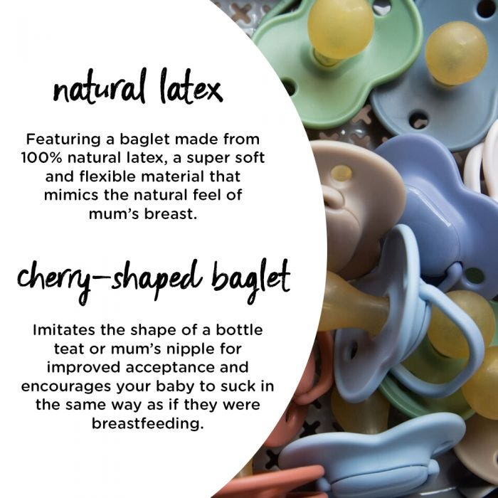 Cherry Latex Soother Infographic