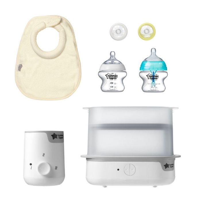 New parent starter set in white flat product shot