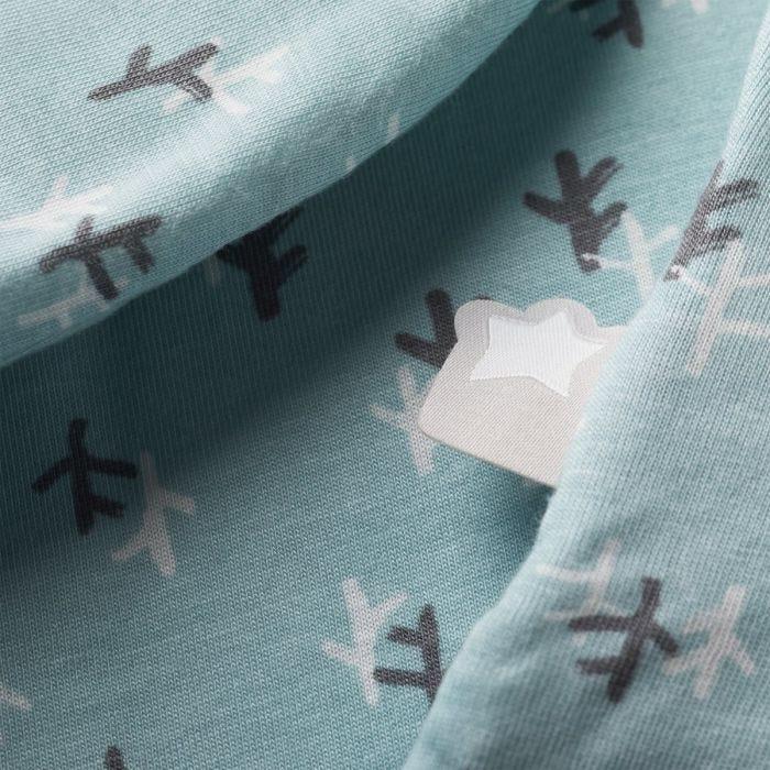 Treasure Trees Original Grobag Sleep bag Close Up showing Zip